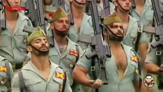 Desfile de La Legión en el Día de la Fiesta Nacional - Paso de Marcha Legionario