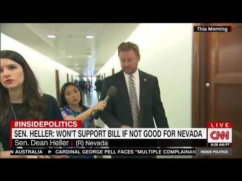 Dean Heller Flees CNN Reporter Asking Him Health Care Questions