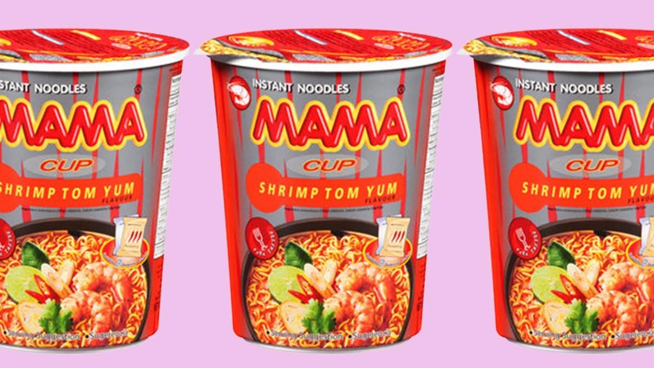 Mama Instant Noodles Unboxing (Shrimp Tom Yum) - YouTube