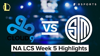 HIGHLIGHTS: Cloud9 vs Team SoloMid (2017 NA LCS Spring)