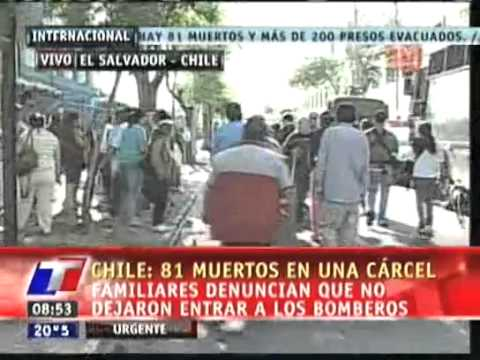 Chile Prison Fire 83 Criminals Dead P.20 הפדיחה של ביבי והדלי המוטס