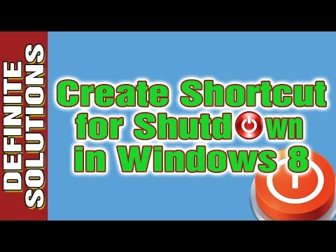 how to create shortcut in windows 8