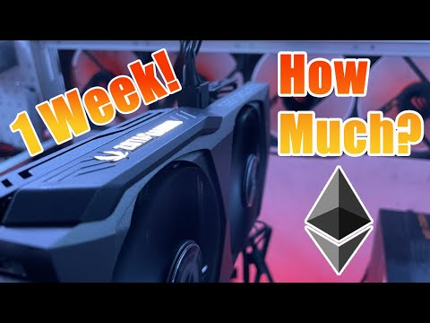 How Much Did Our 3060 Ti Make In 1 Week?  Profit, Hashrate, Accepted Shares And Temps On Ethereum