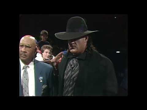 Undertaker Vs Ultimate Warrior  - July 1991