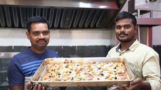 Giant Pizza | Farm Fresh Pizza | Amazing Veg Pizza by Street Kitchen