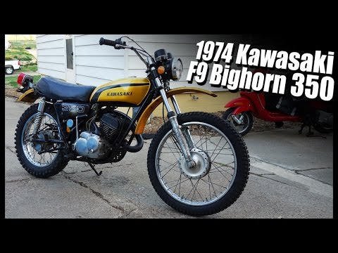 1974 Kawasaki F9 Bighorn 350 - YouTube