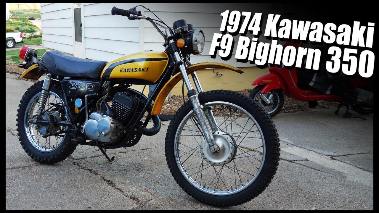 1974 kawasaki f9 bighorn 350 youtube