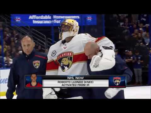 d2140084405 NHL Now  Roberto Luongo activated off injured reserve Nov 1