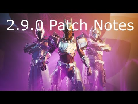 'Destiny 2' Season Of The Arrivals Update 2.9.0 Patch Notes