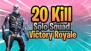 20 KILL SOLO SQUAD WIN! Fortnite Console 6-6 sensitivity gameplay!