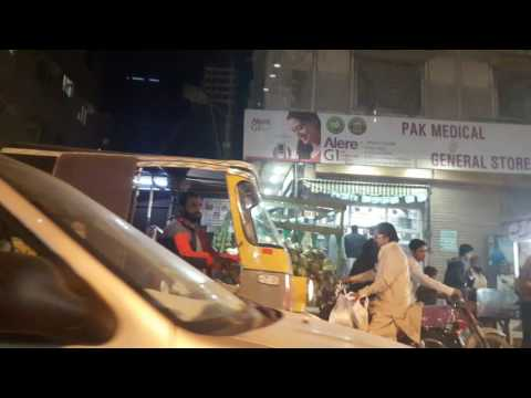 Hussainabad Food Streed by Night