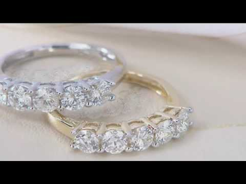 1/2 ct tw or 1.00 ct tw 5-Stone Diamond Band Ring 14K, Affinity on QVC