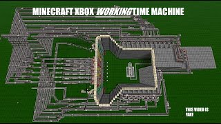 Minecraft working time machine Xbox 360