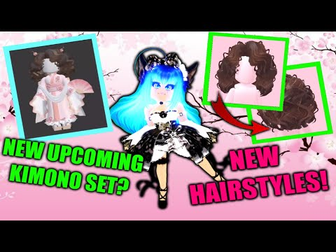 New Upcoming Kimono Set And Hairstyles I Roblox Royale High