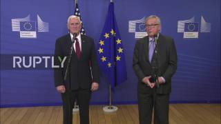 Belgium  Pence and Juncker stress importance of EU US partnership
