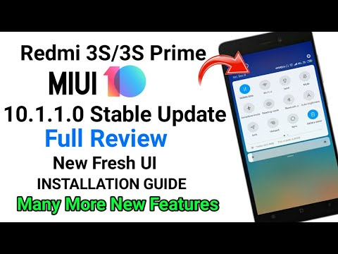 MIUI 10.1.1.0 Global Stable Update For Redmi 3S/3S Prime | Download Link With Full Review