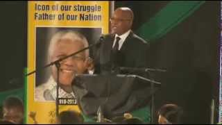 President Zuma leads singing in remembering Nelson Mandela
