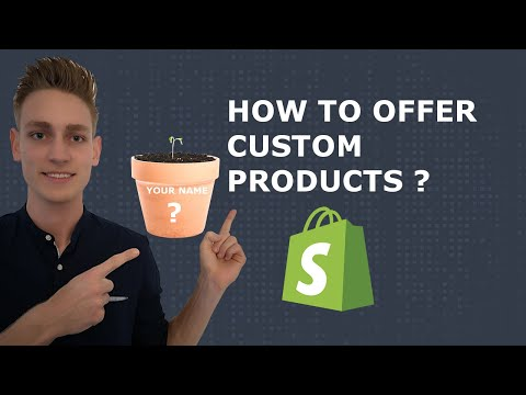 How to create customizable products in Shopify (FREE)