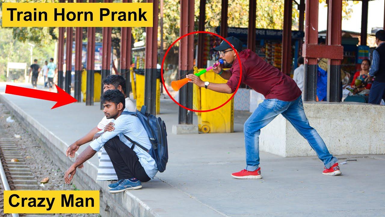 Train Horn Prank 2021 | The Best Of Train Horn Prank on Public (PART 5) | 4 Minute Fun