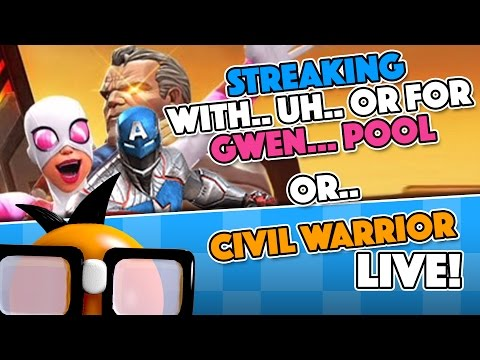 [Live] Streaking For Gwenpool or Civil Warrior: Morning Crunch Edition!