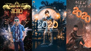 Happy New Year 2020 Photo Editing Tutorial in picsart 2020 Happy New Year Photo Editing