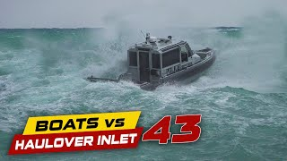 INSANE WAVES AT HAULOVER INLET!! | Boats vs Haulover Inlet
