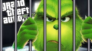 THE NEW GRINCH GOES TO PRISON MOD (GTA 5 PC Mods Gameplay)