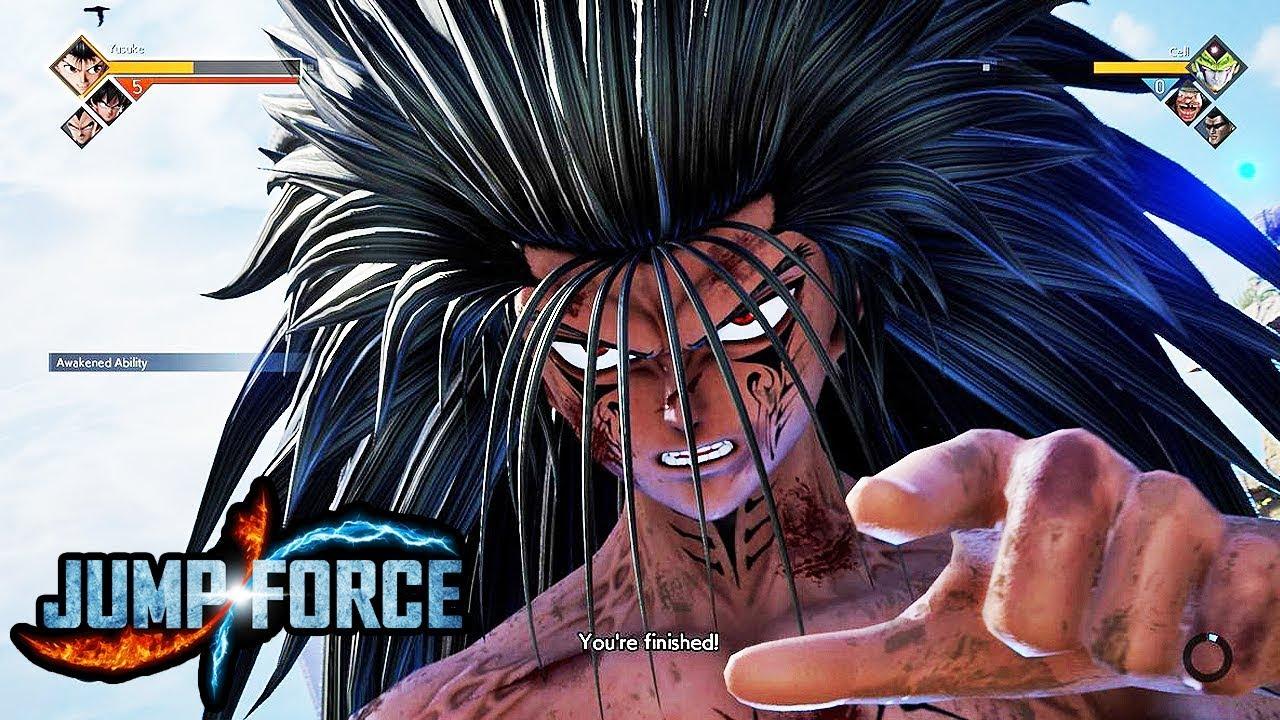 JUMP FORCE - NEW DEMON YUSUKE Gameplay Screenshots! Mazoku ...