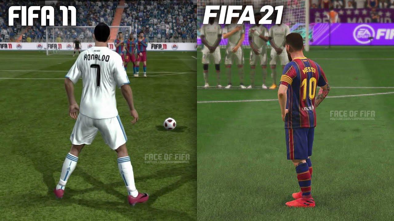 Free Kicks From FIFA 11 to FIFA 21