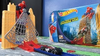 Spiderman Web Sling Drop-Out Hot Wheels Track Set