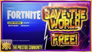 * NUEVO ACTUALIZADO * 😍Cómo obtener ahorrar el mundo gratis! *100% De trabajo* (Fortnite FREE Glitch April 2018)