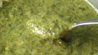 Сливочный соус из рукколы (веган)