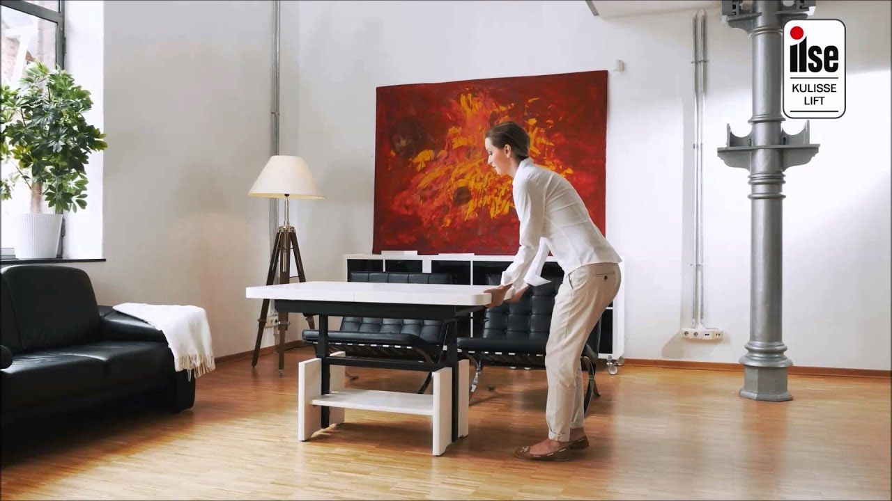 couchtisch mit kulisse lift funktion youtube. Black Bedroom Furniture Sets. Home Design Ideas