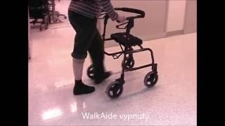 Chůze RS pacientky s neurostimulátorem WalkAide - cz titulky