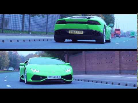 Lamborghini Huracan V10 teaser trailer for Reliance Car Hire - Verde Mantis - lime green 605bhp