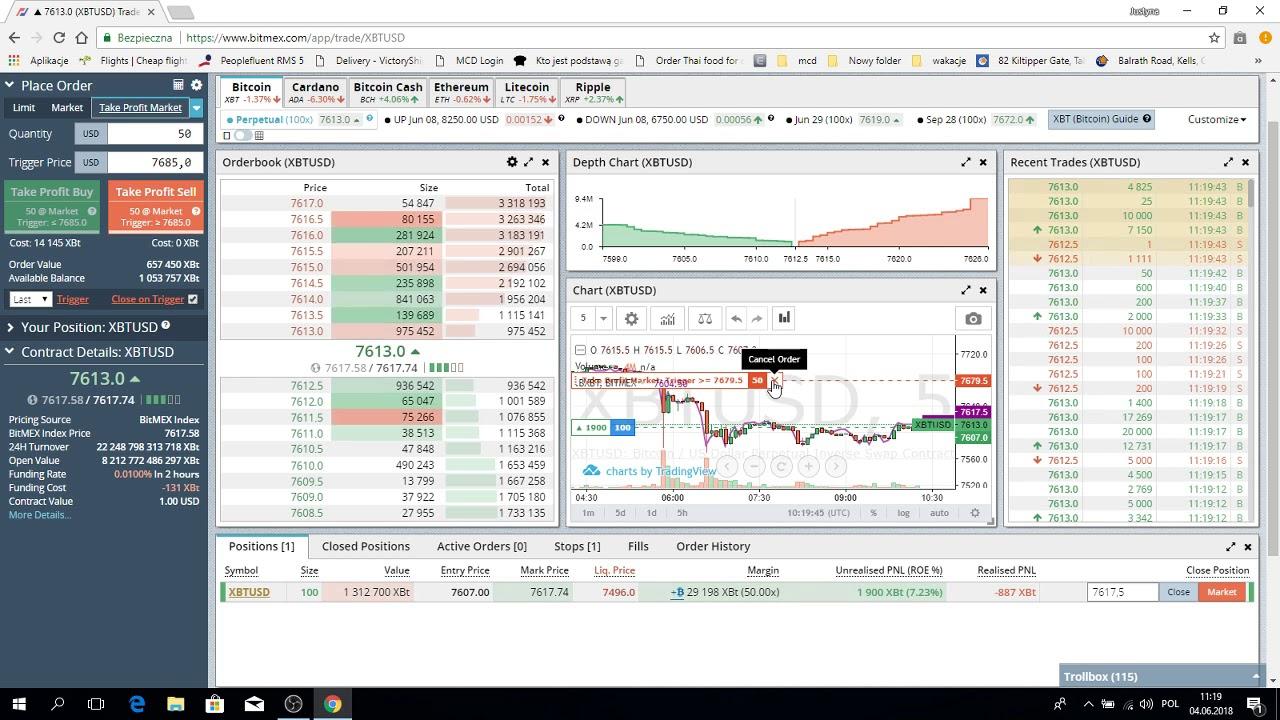 bitmex cz 03 Stop market, Stop limit, Trailing stop, Take profit market,  Take profit limit