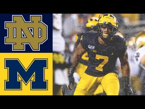 #8 Notre Dame vs #19 Michigan Highlights | NCAAF Week 9 | College Football Highlights