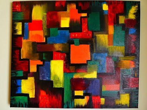 Very Easy Cubism Abstract Painting In Oil Colors | Contemporary Art Style