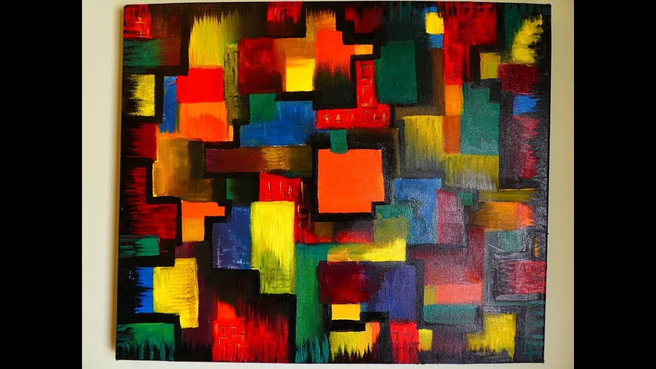 Very Easy Cubism Abstract Painting In Oil Colors Contemporary Art Style
