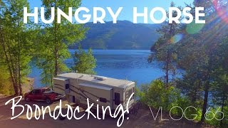 Best Boondocking Spot!  (Hungry Horse Resivoir) - Vlog 66