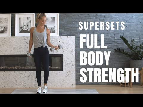 LEAN & TONED // Full Body Strength Workout // Supersets
