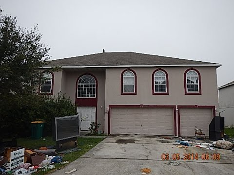 ABANDONED FORECLOSURE HOME IN FLORIDA & TRASH OUT