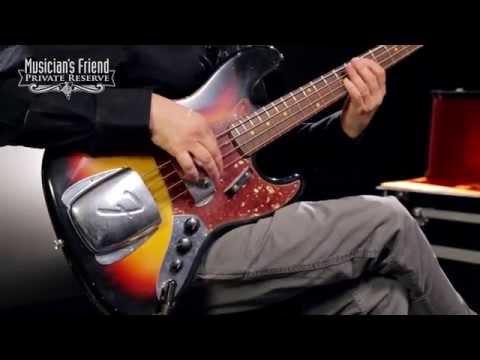 Fender Custom Shop 1964 Jazz Bass Relic Guitar, 3-Color Sunburst
