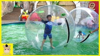 Outdoor Playground Family Fun Play Area for kids / Baby Nursery Rhymes Song | MariAndKids Toys