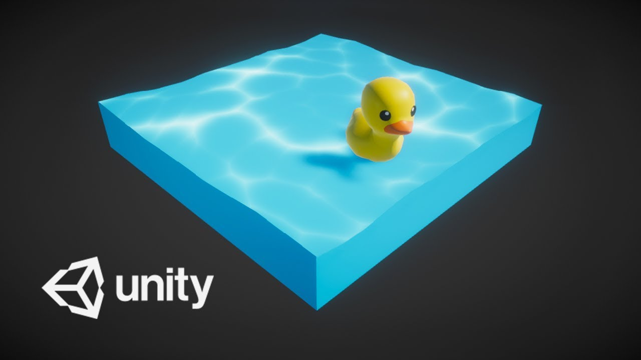 SIMPLE CARTOON WATER in Unity