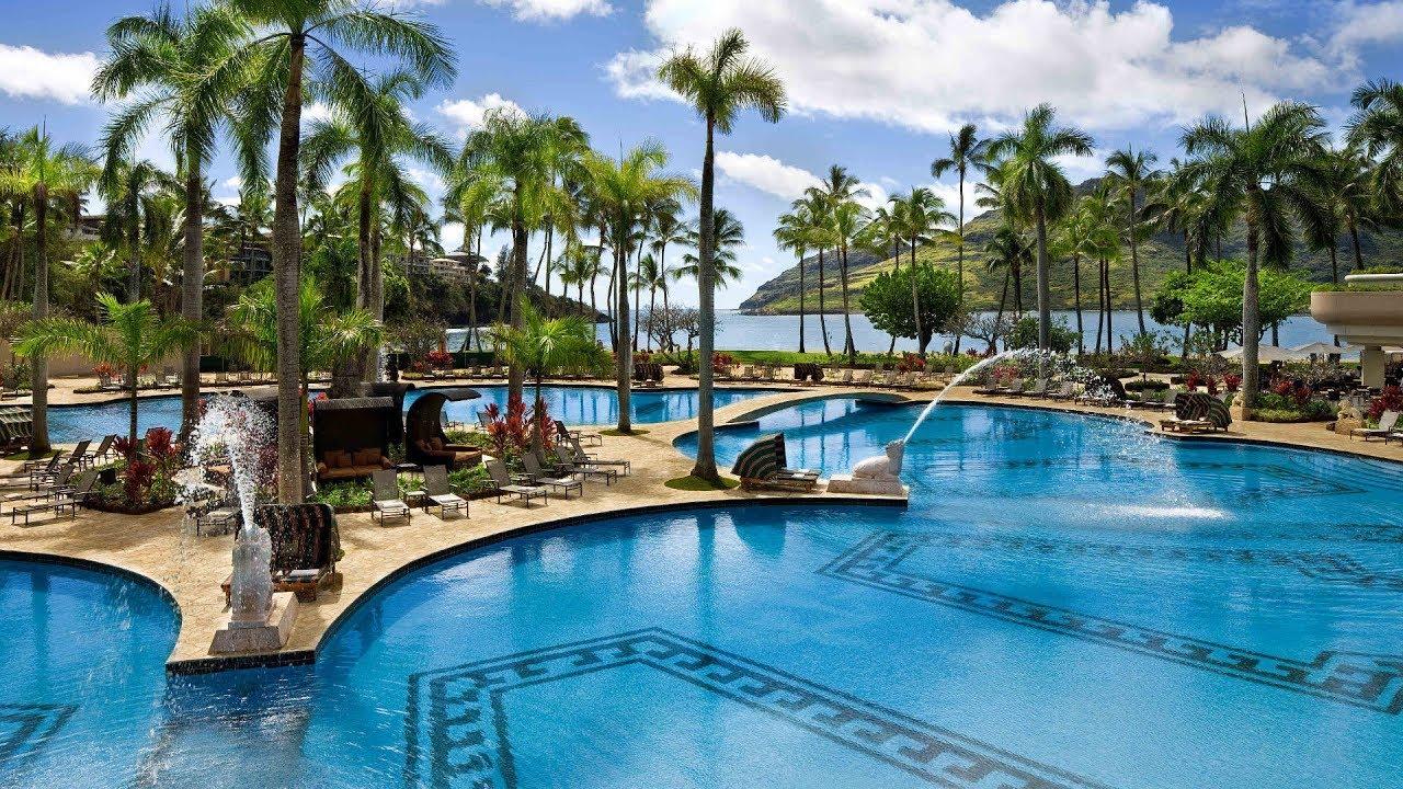 top 10 beachfront hotels & resort in kauai, hawaii - youtube