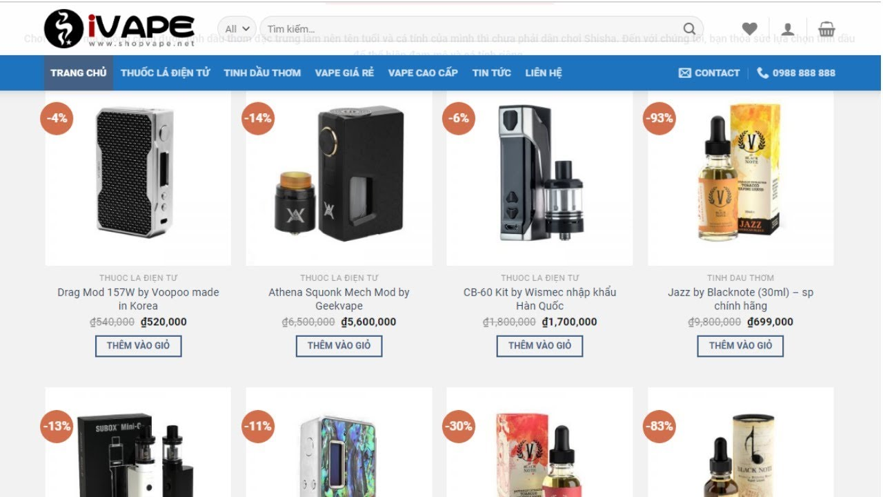 Hướng dẫn tạo Website bán hàng điện tử, điện lạnh, phụ kiện