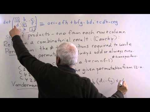 MathHistory26: Matrices, determinants and the birth of Linear Algebra