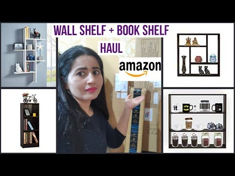 Amazon की बेहतरीन चीज़े | Amazon Wall Shelf + Book Shelf Haul And Decor | Amazon Shopping Haul |