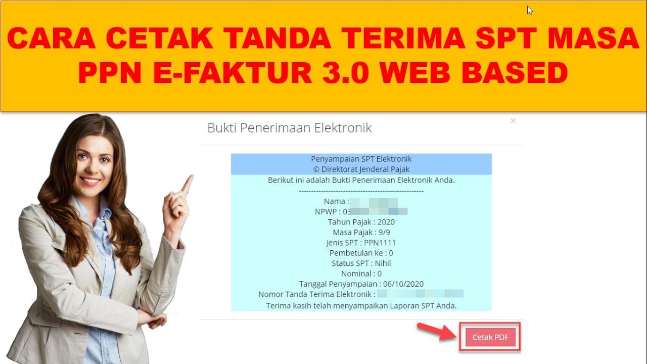 Cara Lapor Spt Masa Ppn Nihil Di Efaktur 3 0 Web Based Youtube
